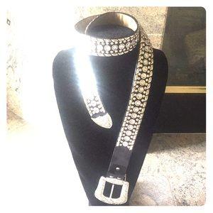 Accessories - Rhinestone leather belt